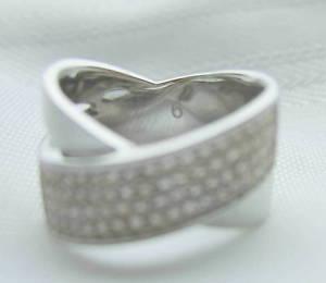 【送料無料】ブレスレット ミハエルシルバートーンクリスタルクロスリングサイズmichael kors silvertone incrociato cristallo pave anello donna misura 9
