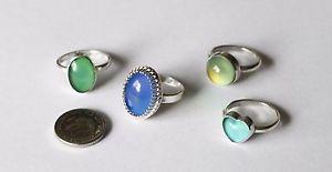 【送料無料】ブレスレット スターリングシルバーリングイギリスsterling silver mood ring, fatti a mano nel regno unito