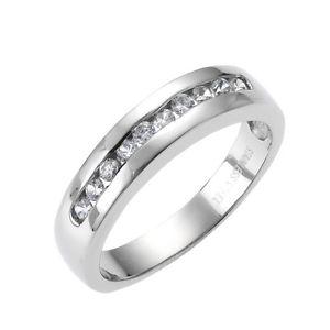【送料無料】ブレスレット ステンレススチールリングステンレススチールホワイトクリスタルzeeme stainless steel anello in acciaio inox cristallo bianco donna lucido nuovo
