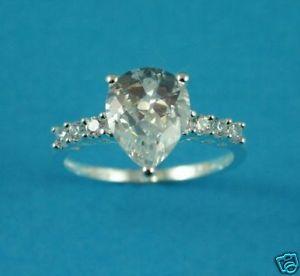 【送料無料】ブレスレット サイズリングsplendido argento sterling taglio pera clr cz dimensioni anello p