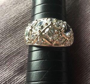 【送料無料】ブレスレット サイズドレスリングargento sterling abito anello con zirconi usato condizione in buonissima condizione taglia s