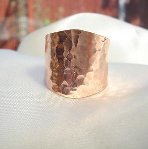 【送料無料】ブレスレット リングbellissimo martellato anello in ottone spessa