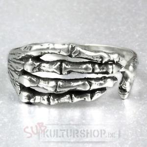 【送料無料】ブレスレット スケルトンリングetnox scheletro mano anello in 925er argento
