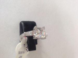 【送料無料】ブレスレット プリンセスカットリングsplendido argento sterling r p principessa taglio anello