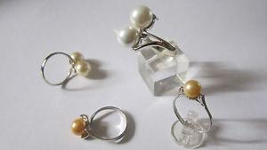 【送料無料】ブレスレット シルバーリングスターリングシルバーリングanello in argento e perle sterling silver ring and pearls