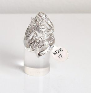 【送料無料】ブレスレット シルバーリングanello argento 925 molto vistoso con zirconi misura 17 bellissimo