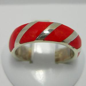 【送料無料】ブレスレット ソリッドシルバーリングanello argento massiccio 925 con corallo rosso