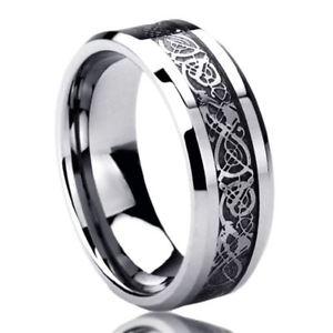 【送料無料】ブレスレット ステンレススチールケルトリングドラゴン8mm acciaio inox fede nuziale anello celtico anello dragon intarsiato