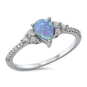 【送料無料】ブレスレット sterling silver light blue opal cz anello