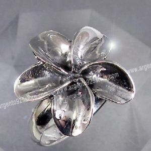 【送料無料】ブレスレット リングシルバーフラワーanello donna argento 925 flower lavorato ab