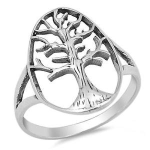 【送料無料】ブレスレット スターリングシルバーツリーリングargento sterling albero della vita anello
