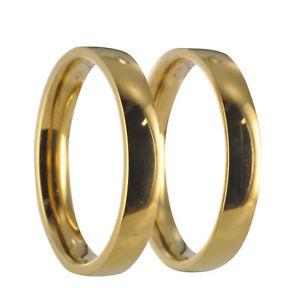 【送料無料】ブレスレット ステンレススチールゴールドリングリング2 anelli in acciaio inox oro fedi vere fedi nuziali incl incisione interna 20p031