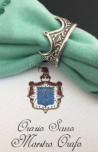 【送料無料】ブレスレット シルバーリングリングanello corona in argento 925