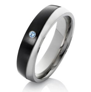 【送料無料】ブレスレット anello di fidanzamento fede nuziale da donna anello in acciaio inox con topaz e anello incisione es30