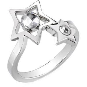 【送料無料】ブレスレット リングコスモススチールシルバースターanello donna morellato saki17016 cosmo acciaio silver stella misura 16 cristalli
