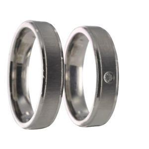【送料無料】ブレスレット ステンレスリングリング2 anelli in acciaio inossidabile fedi fedine fedi nuziali con incisione 40087