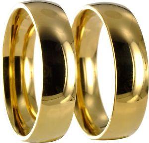 【送料無料】ブレスレット ステンレスリングリング2 anelli in acciaio inox l316 oro di fidanzamento fedi vere fedi nuziali con incisione 20p061