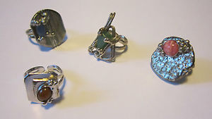 【送料無料】ブレスレット anelli donna in rame argentato realizzati a mano rings silver plated woman
