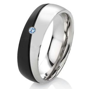 【送料無料】ブレスレット トパーズステンレススチールリングリングanello di fidanzamento fede nuziale da donna anello in acciaio inox con topaz e anello incisione es54