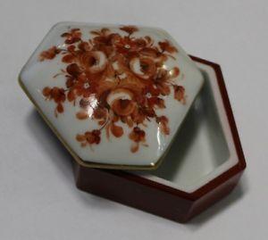 【送料無料】ブレスレット モチーフタラリモージュセラミックスキーパーscatolina in ceramica di limoges dipinta a mano con motivi floreali cod 5361