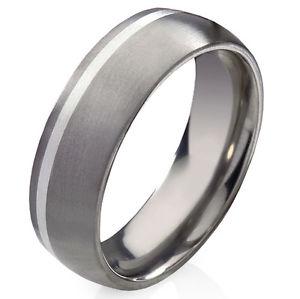 【送料無料】ブレスレット チタンシルバーリングtitanio anello di fidanzamento con 925 argento e anello incisione gratis t13h