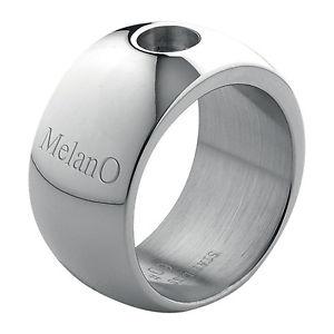 【送料無料】ブレスレット リングステンレススチールサイズブリリアントmelano magnetico anello acciaio inox 12 mm larghezza taglia 54 brillante per