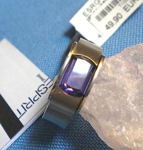 【送料無料】ブレスレット ステンレススチールエスプリアメジストリングesprit anello in acciaio inox con ametista esprit jewels mis 60 o 19