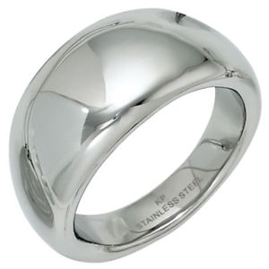 【送料無料】ブレスレット リングリングステンレススチールリングampio anello da donna anello in acciaio inox liscio lucido dito anello b 11mm