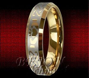 【送料無料】ブレスレット タングステンリングタングステン* nuovo * 6mm tungsteno anello oro placcati tungsten * keltisches design *