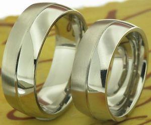 【送料無料】ブレスレット ステンレスリングリング2 anelli in acciaio inossidabile fedi fedine fedi nuziali vere incisione amp;