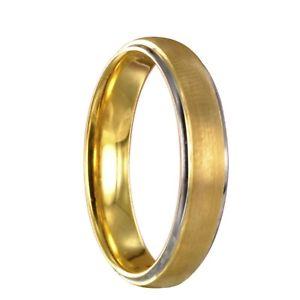 【送料無料】ブレスレット タングステンバイカラーリングシルバーゴールドリングリングtungsteno anello bicolori argentooro fedi fedine anello incisione interna 14020