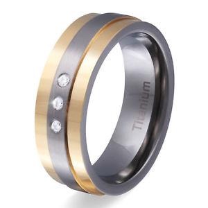 【送料無料】ブレスレット da donna titanio anelli anello di fidanzamento al titanio zirconia incl incisione gratist9d