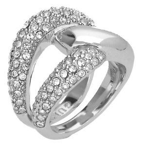 【送料無料】ブレスレット ノットリングguess donna dito anello metallo argento tied in knots ubr72504