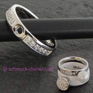 【送料無料】ブレスレット nuovomelano twisted anello tracy cz con zirconi mis 57acciaio inox