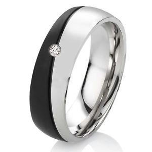 【送料無料】ブレスレット リングステンレススチールリングanello di fidanzamento da donna anello in acciaio inox con zirconi e anello incisione es52