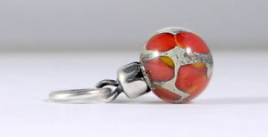 【送料無料】ブレスレット クリスマスボールtrollbeads original authentic limited edition palline di natale rosse 2013 1