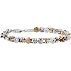 【送料無料】ブレスレット ブレスレットギアマンスチールブレスレットスチールゴールドbracciale breil gear uomo acciaio tj2258 bracelet nuovo acciaio bicolore oro