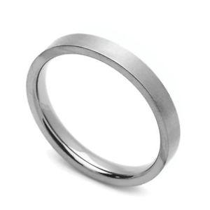 【送料無料】ブレスレット チタンクラシックフラットリングコンフォートフィット3mm comfort fit fede nuziale in titanio classico anello piatto