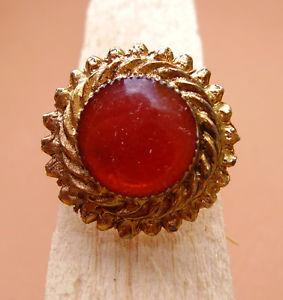 【送料無料】ブレスレット ロンドメタルドールオレンジ1951 bague ronde metal dore  email orange reglable