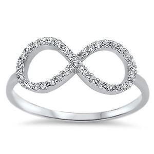 【送料無料】ブレスレット スターリングシルバーインフィニティリングlittle treasures sterling silver cz infinity ring