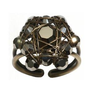 【送料無料】ブレスレット リングブラックライトkonplott anello bended lights nero