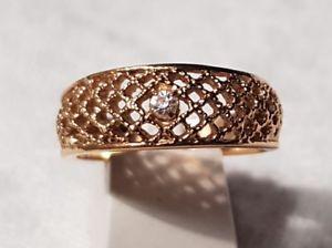 【送料無料】ブレスレット ビンテージリングエイボンクリスタルブランbijou vintage bague ring t60 sign avon mtal dor filigran cristal blanc t6