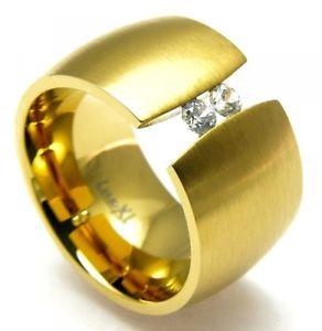 【送料無料】ブレスレット リングステンレスblink anello in acciaio inossidabile dorato sr196