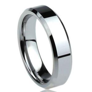 【送料無料】ブレスレット チタニウムコンフォートフィットリングフラットエッジリングクラス6 mm titanio fede nuziale comfort fit anello smussato bordi piatto anello di classe