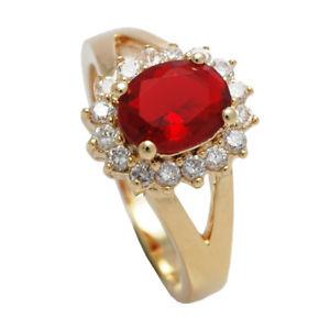 【送料無料】ブレスレット ルビーイギリスμリングdonna ruby 18kt riempito doro originale, garanzia del regno unito 3 anello di 10 anni