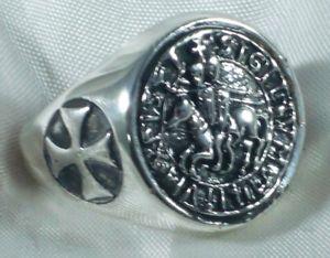 【送料無料】ブレスレット リングシールクロスシルバースターリングシルバーリングanello sigillo templari croce argento 925 sterling silver templar knight ring