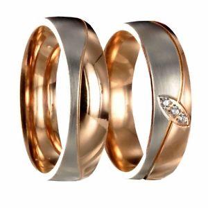【送料無料】ブレスレット ステンレススチールピンクゴールドシルバー2 l316 in acciaio inox bicolore oro rosaargento di fidanzamento fedi incl incisione interna 40p068