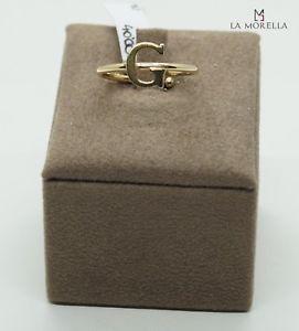 【送料無料】ブレスレット シルバーリングイエローanello in argento giallo con lettera g