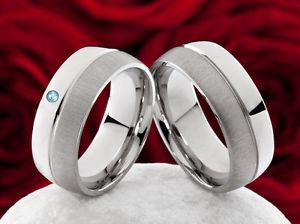 【送料無料】ブレスレット ステンレストパーズリングエンゲージメントdi fidanzamento fedi fedi vere in acciaio inox con blu topaz h091