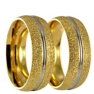 【送料無料】ブレスレット ステンレススチールブライダルリング2 x anello in acciaio inossidabile fedina nuziale fede incisione gratuita 20162